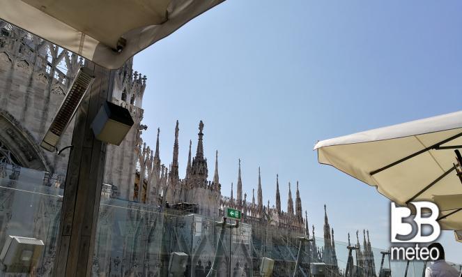 Milano Dalla Terrazza Rinascente - Foto Gallery « 3B Meteo