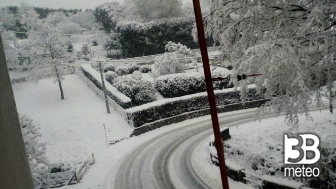 Nevicata trivero valdilana