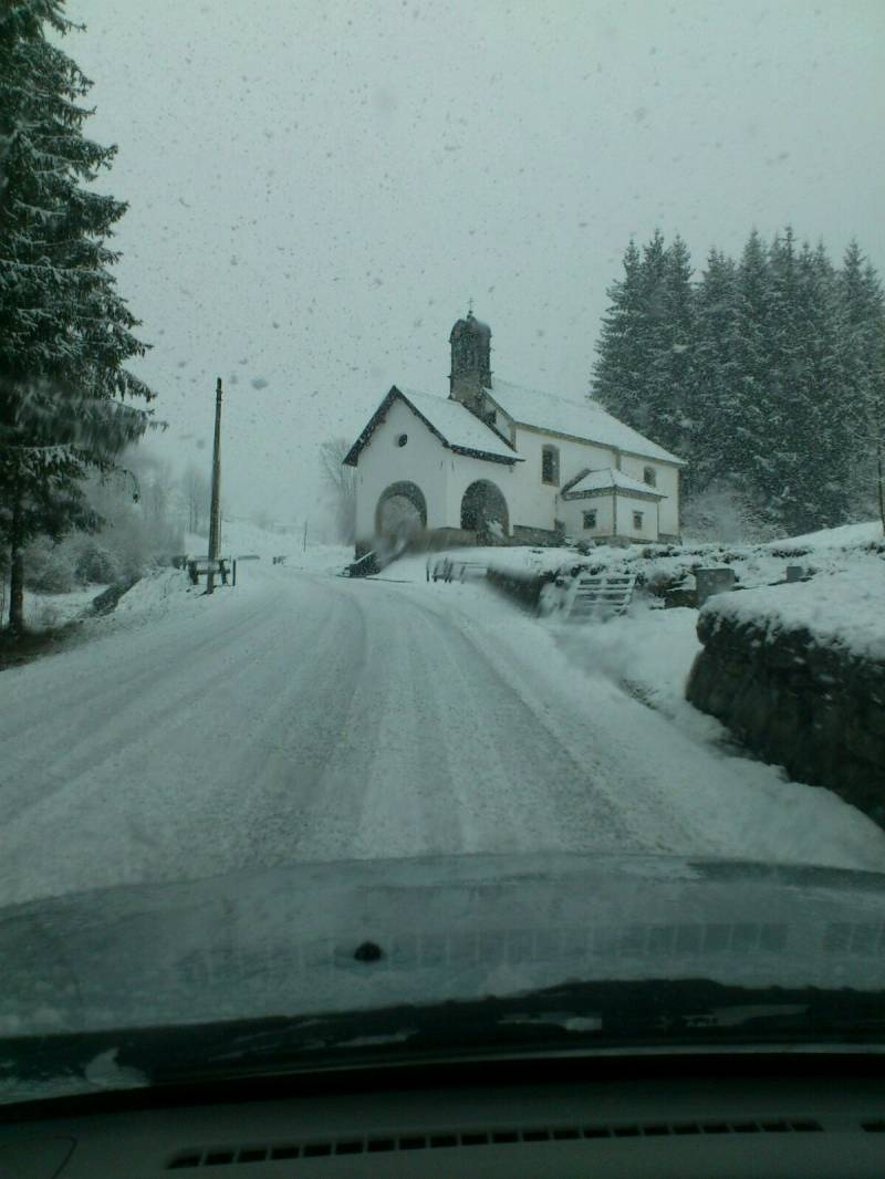 arrivo con neve