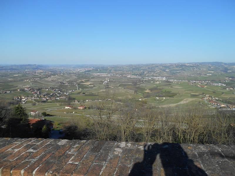 Le Langhe sullo sfondo in alto a sinistra si vede la citta di Alba