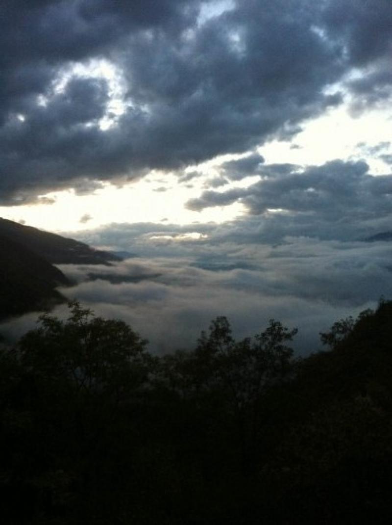 Veduta della Valtellina