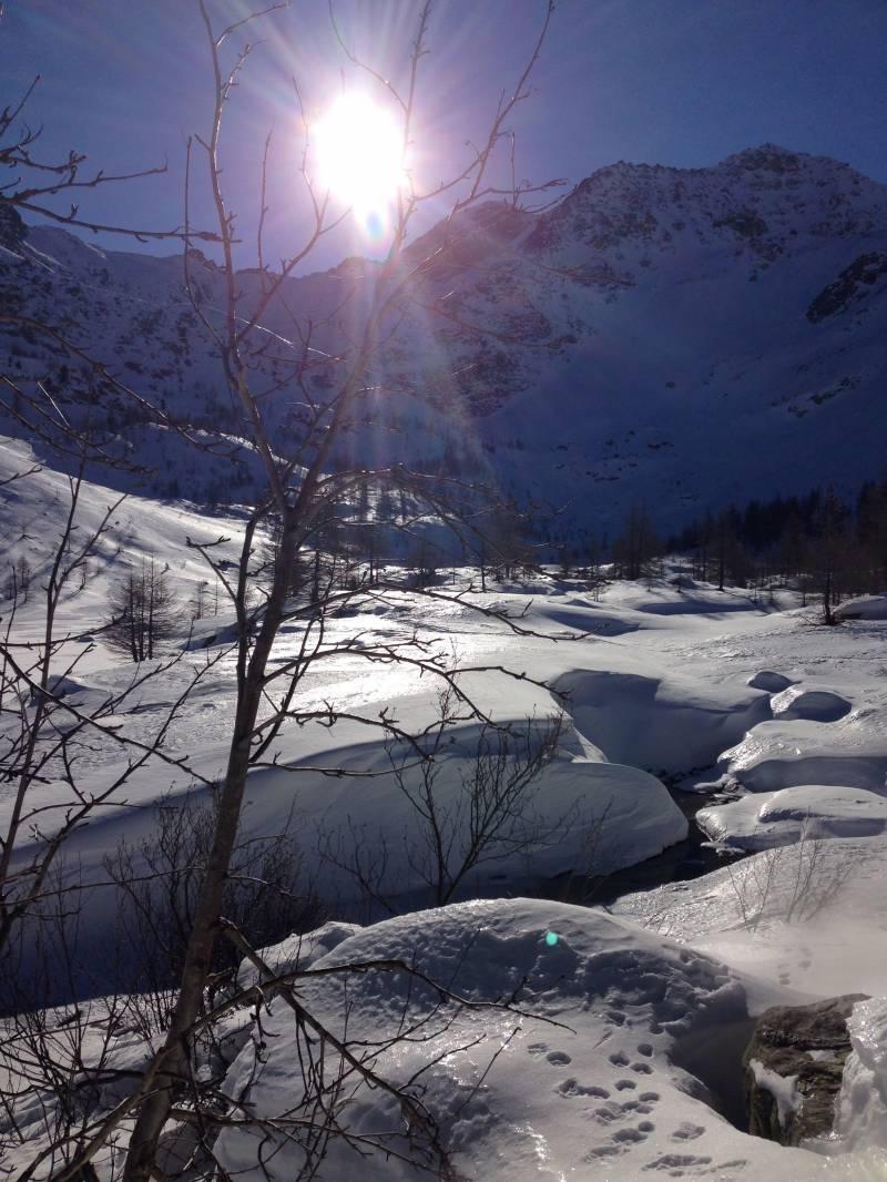 Lago d 'Arpy 5 gennaio 2015