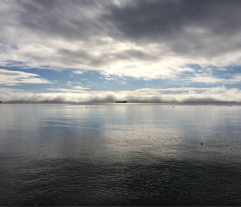 Nebbia sull orizzonte