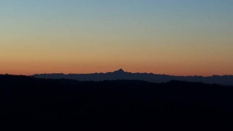 tramonto con il monviso