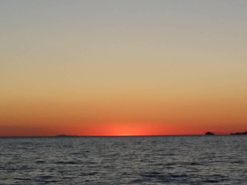 Il tramonto dal pontile
