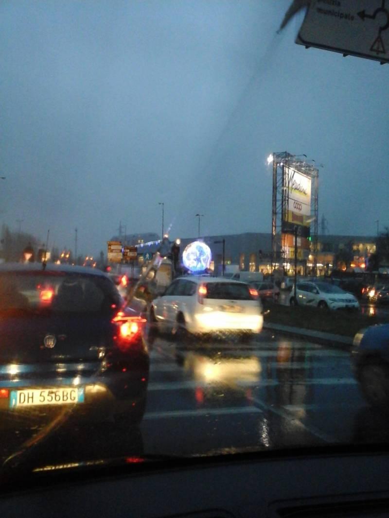 Reggio Emilia sotto la pioggia