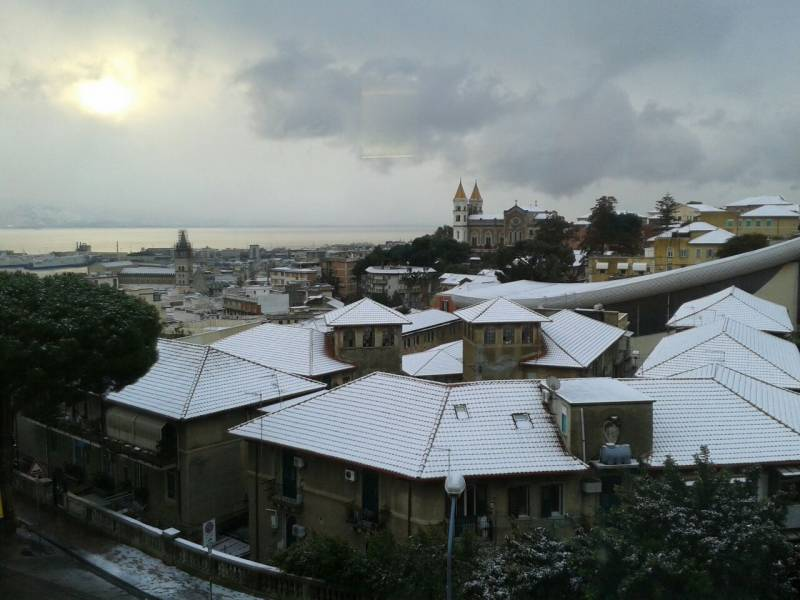 Foto Meteo: Effetto Neve A Messina « 3B Meteo