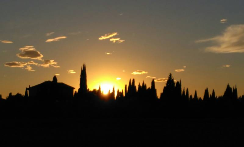 Tramonto udinese d' autunno