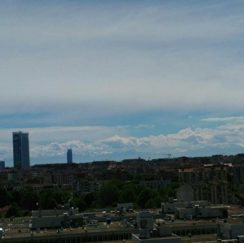 Scattered clouds over Turin