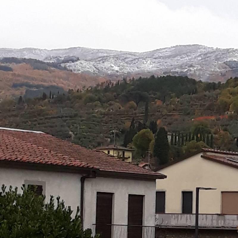 L'alpe di catenaja sotto la neve.