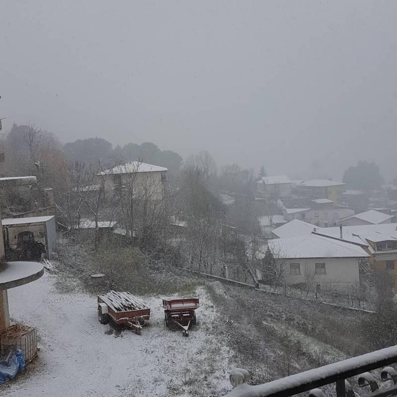 Castelfranci sotto la neve