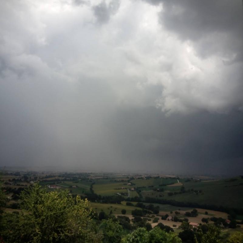 Treia arriva il temporale