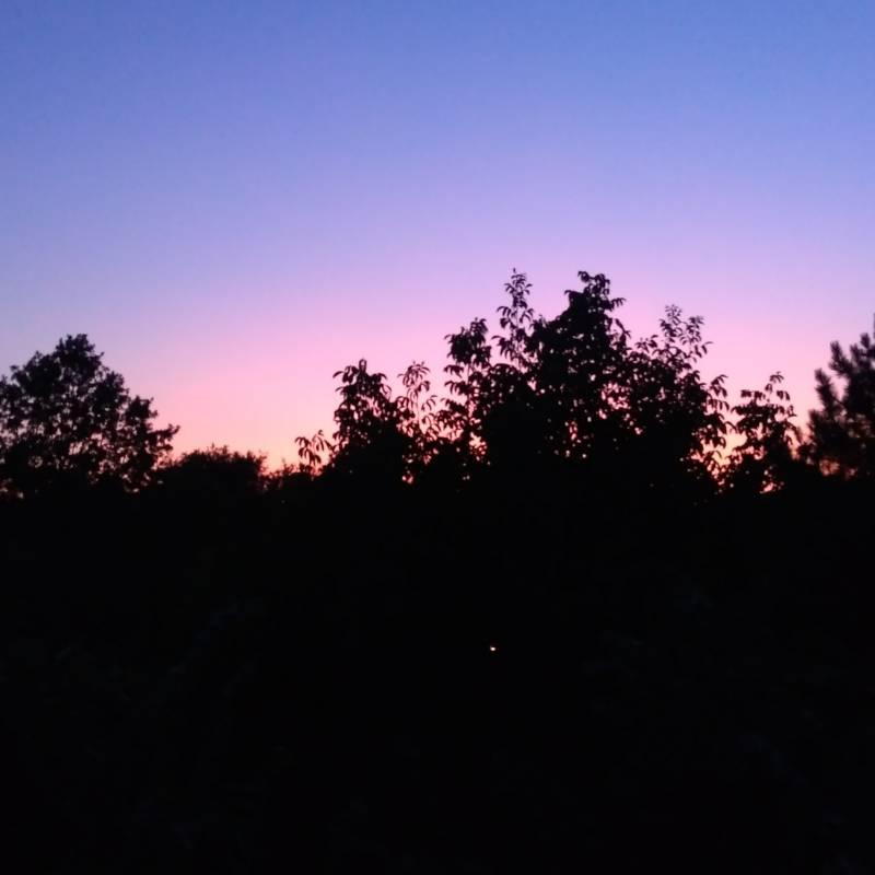 Il tramonto del 13 luglio
