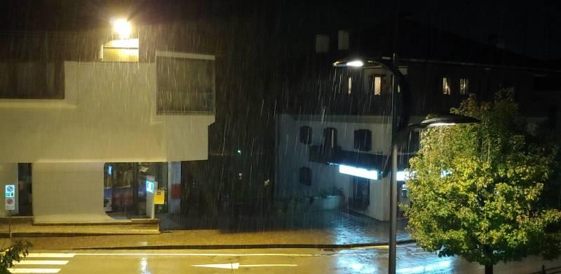 Previsione solo pioggia invece mista neve