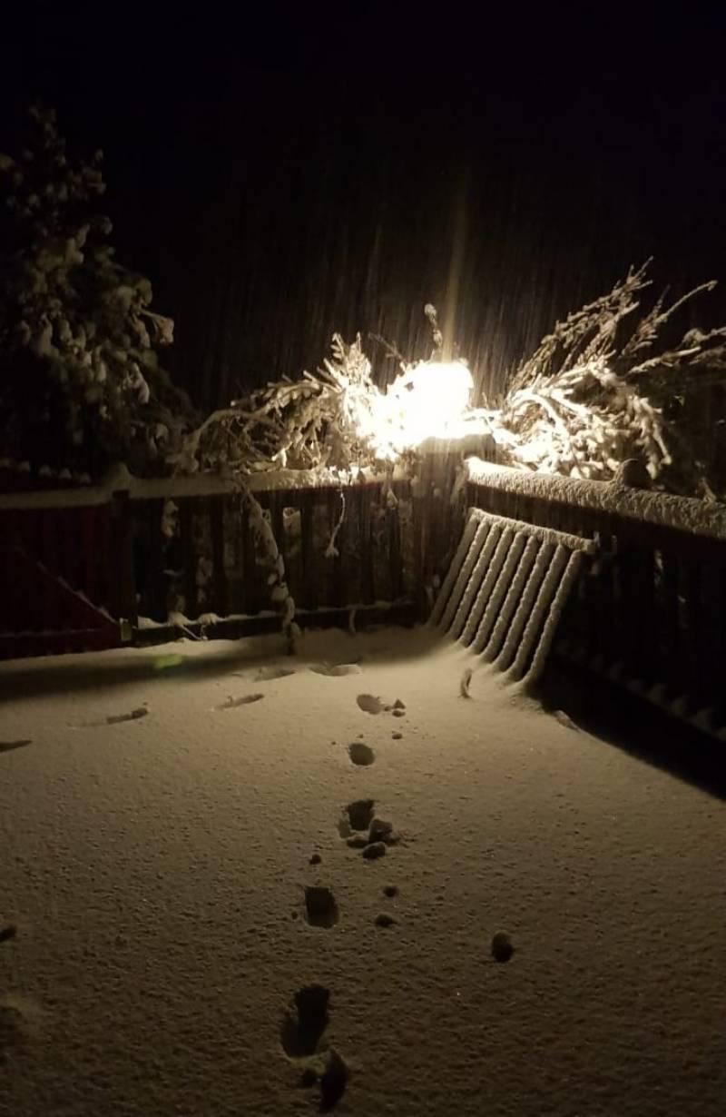 Foto Meteo: ...La Prima Nevicata A Calizzano... « 3B Meteo