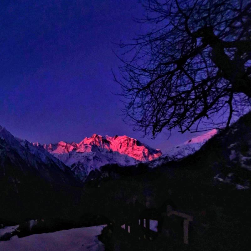 Monterosa visto dalla alpe briga