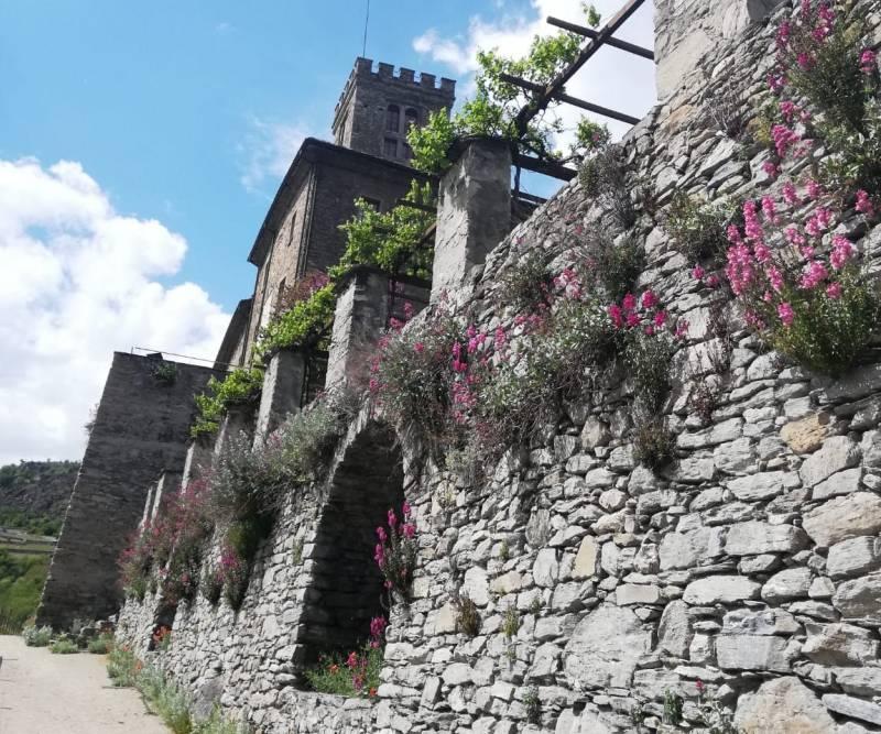 Passeggiata dietro al castello