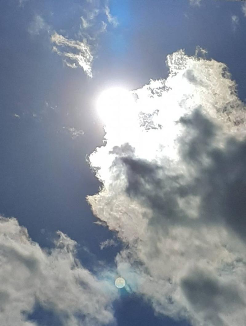 Sereno con qualche nuvoletta..