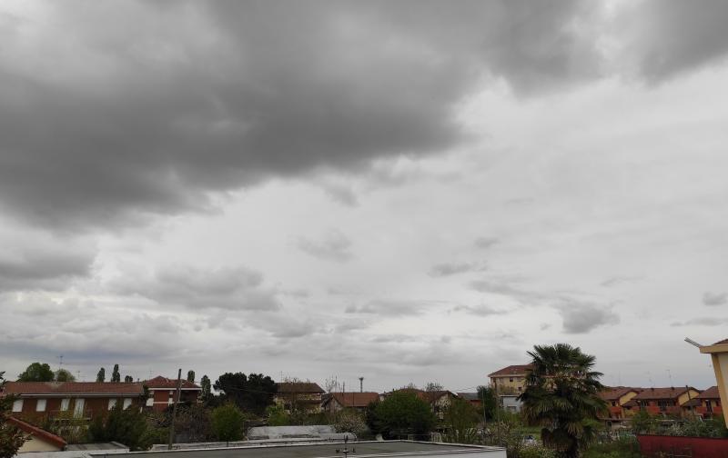Nuvole che di addensano nel veverese