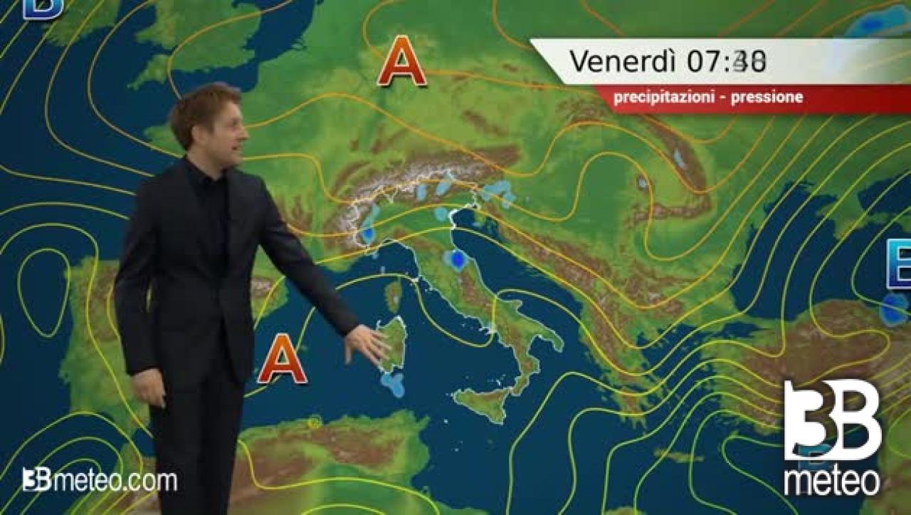 METEO ITALIA: venerdì con temporali più frequenti sui rilievi ...