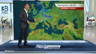 Rovesci e temporali su Nord-Ovest e Alpi, piovaschi al Centro, stabile al sud....