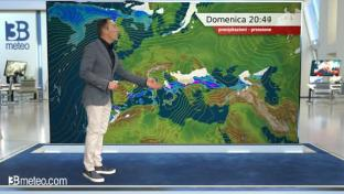 Maltempo al Centro-Sud con neve anche in pianura sull'Emilia; più sole altrove....