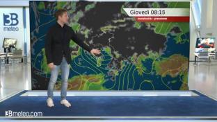Vortice ciclonico con tempo instabile o a tratti perturbato, forti venti ...