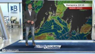 Nuvolosità irregolare su tutta Italia con occasionali piogge sul Centro-Sud...