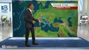 Rovesci e locali temporali al Sud e sull'Appennino; variabilità sul Triveneto...
