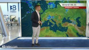 Forti temporali al Nord, Appennino e medio Adriatico. Sole e caldo altrove...