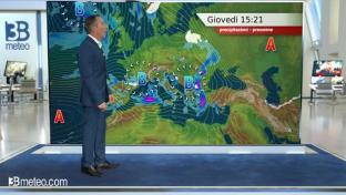 Molte nubi sul Paese; piogge sul medio-basso versante tirrenico e sulle Isole...