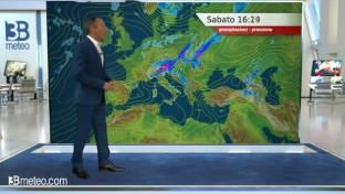 Instabile al Nord con temporali in estensione dalle Alpi alle pianure orientali...