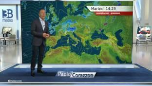 Al Nord acquazzoni e qualche temporale, radi piovaschi anche al Centro Italia...