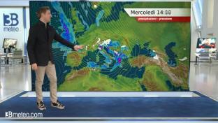 Ancora piogge e rovesci su versante tirrenico, Triveneto e Lombardia orientale...