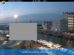 Vista panoramica sul porto canale tra Cattolica e Gabicce Mare