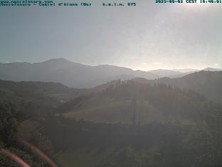 Montefenaro. Vista panoramica sul monte Cimone