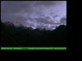 Direzione Nord verso l'Alpe Campo