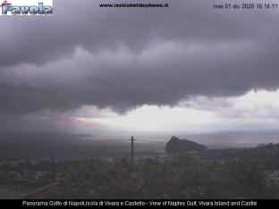 Vista Golfo Napoli e Castello Aragonese